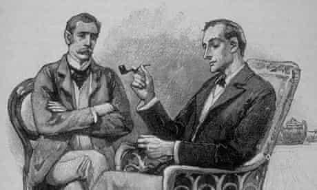 Drawing by Sidney Paget of Sherlock Holmes