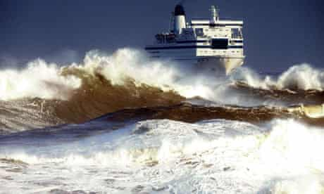Ferry in a storm
