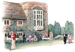 Illustration by Posy Simmonds from Midsummer Night at Glyndebourne