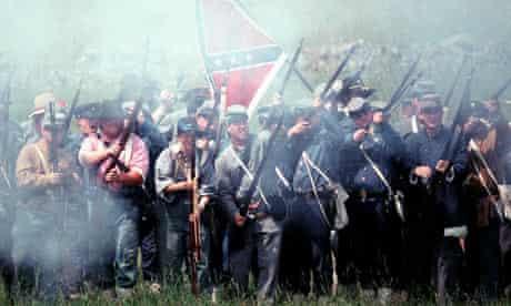 A Gettysburg battle reenactment