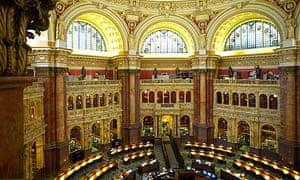 The reading room at Washington's Library of Congress