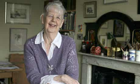 Shirley Hughes at home in Holland Park