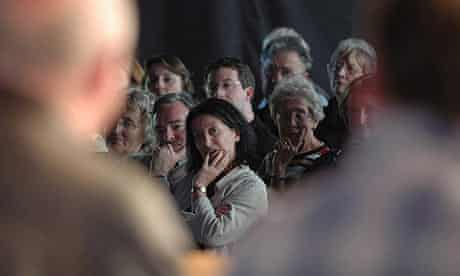 Audience at a Hay festival author event
