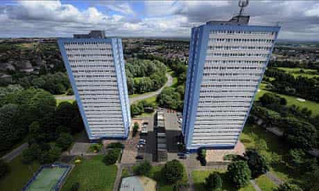 Blocks of flats in east Glasgow