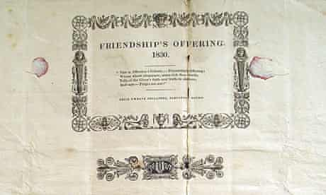 Friendship's Offering, the earliest known dust jacket