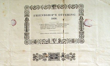 Friendship's Offering, the earliest known dust jacket