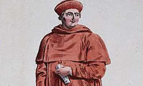 Detail from portrait of Cardinal Wolsey by Pierre Duflos