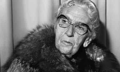 Agatha Christie, pictured in 1972