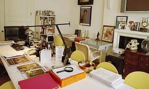 Peter York's writing room