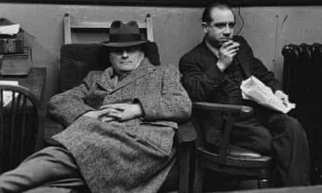 Journalists taking a break in the Press Room on Fleet Street in 1947.