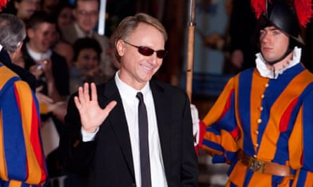 Dan Brown attends the world premiere of Angels and Demons in Rome.
