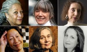 Toni Morrison, Anne Tyler, Joyce Carol Oates, Jayne Anne Phillips, Marilynne Robinson and Gish Jen