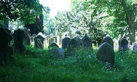 The churchyard of St Michael and All Angels Church, Haworth