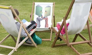Deckchairs at the Hay festival