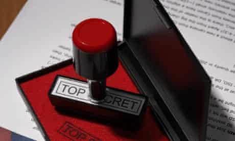 """""""Top Secret"""" Rubber Stamp"""
