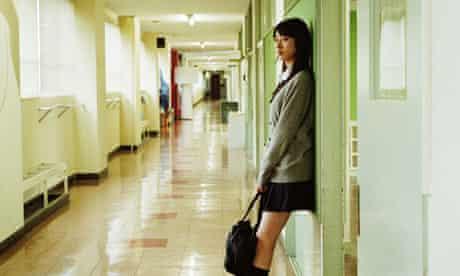 Girl in school corridor