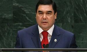 Turkmenistan president Berdymukhamedov