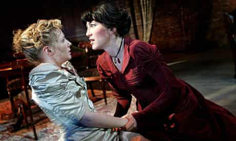 Lisa Dillon (as Thea) and Eve Best (Hedda) in Hedda Gabler
