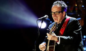Elvis Costello in concert in New York