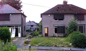 Housing in Bradford's Bierley estate, awaiting demolition