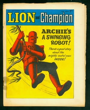 Robots: Robot Archie graces the cover of Lion and Champion
