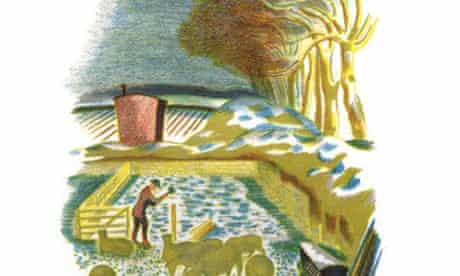 Detail from a lithograph in Men and the Fields by Adrian Bell and John Nash.