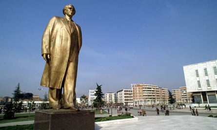Golden memories ... Statue of Enver Hoxha in Tirana