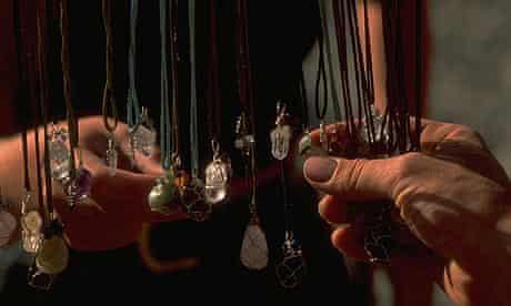 Crystal necklaces.