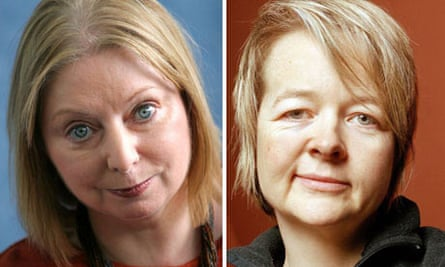 Hilary Mantel (left) and Sarah Waters