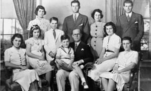 joe kennedy and family, with rosemary third from left