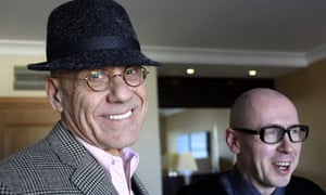 James Ellroy (left) with David Peace