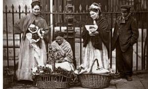 Covent Garden flower women, 1877