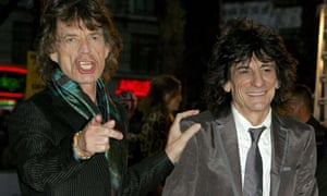 Ronnie Wood and Mick Jagger