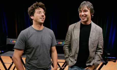 Hitting the books ... Google founders Sergey Brin, left, and Larry Page.