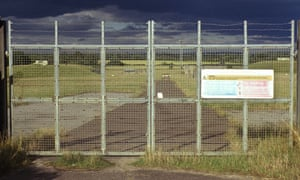 A deserted airbase in a scene from Robinson in Ruins