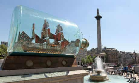 Does anybody actually care about Yinka Shonibare's current fourth plinth installation?