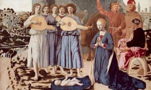 Detail from The Nativity by Piero della Francesca