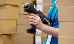 Amazon warehouse in Milton Keynes