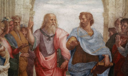 Detail of Plato and Aristotle from The School of Athens> by Raphael