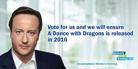 George RR Martin spoof Tory campaign poster