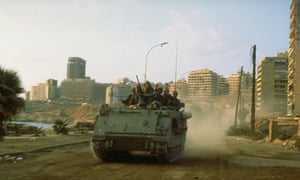 Israeli tank in Beirut in 1982