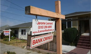 For-sale sign outside a bank-owned home in California