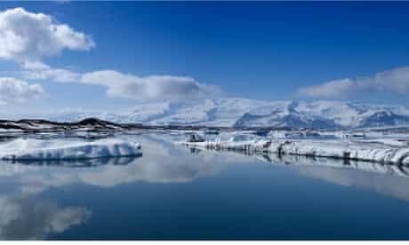 The Jokulsarlon glacial lagoon in Iceland