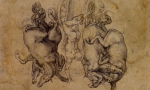 Michelangelo's drawing 'Phaeton'