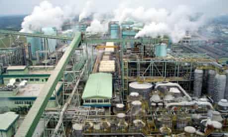 Paper mill in Sumatra