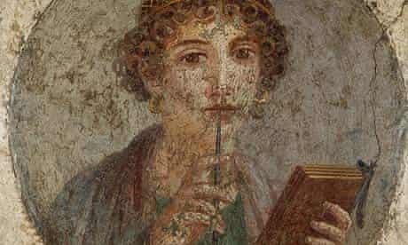 Sappho holding a stylus