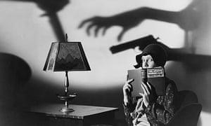 Actress Jean Arthur Reading With Shadows