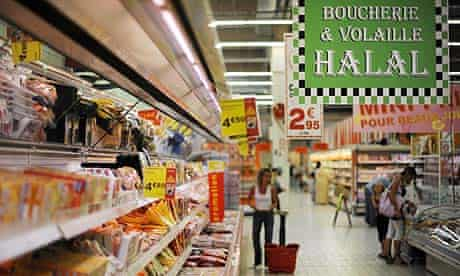 Halal aisle in a French supermarket