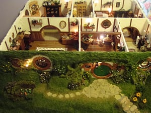 Down the hobbit hole inside a miniature bag end books the guardian - Hobbit book ends ...