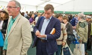 Michael Gove at the Hay festival